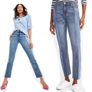 Old Navy Power Two-Tone Straight Jeans